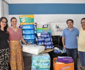 Mil fraldas geriátricas doadas ao Fundo Social